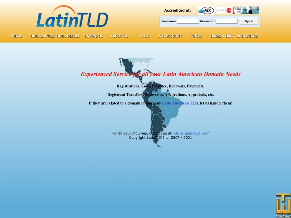 latintld.com Screenshot