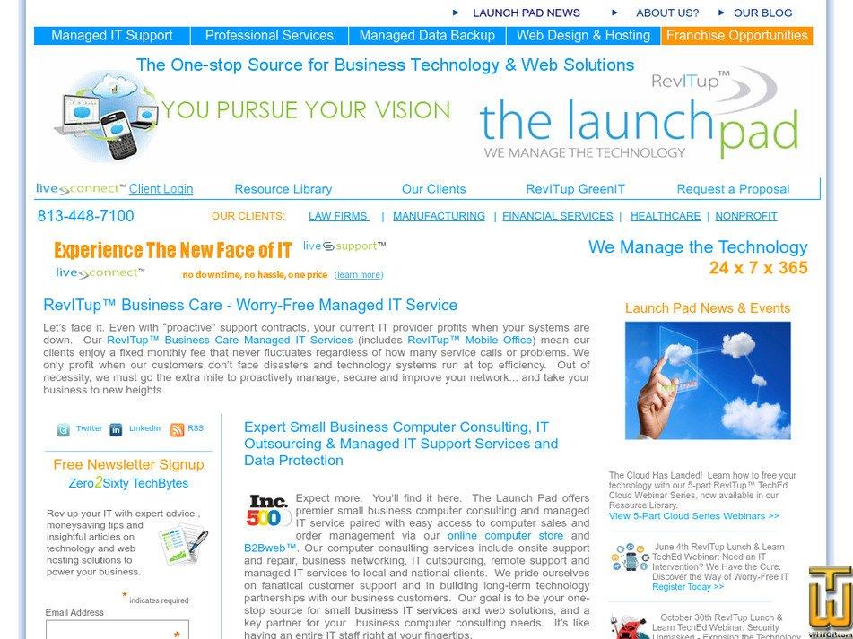 launchpadonline.com Screenshot