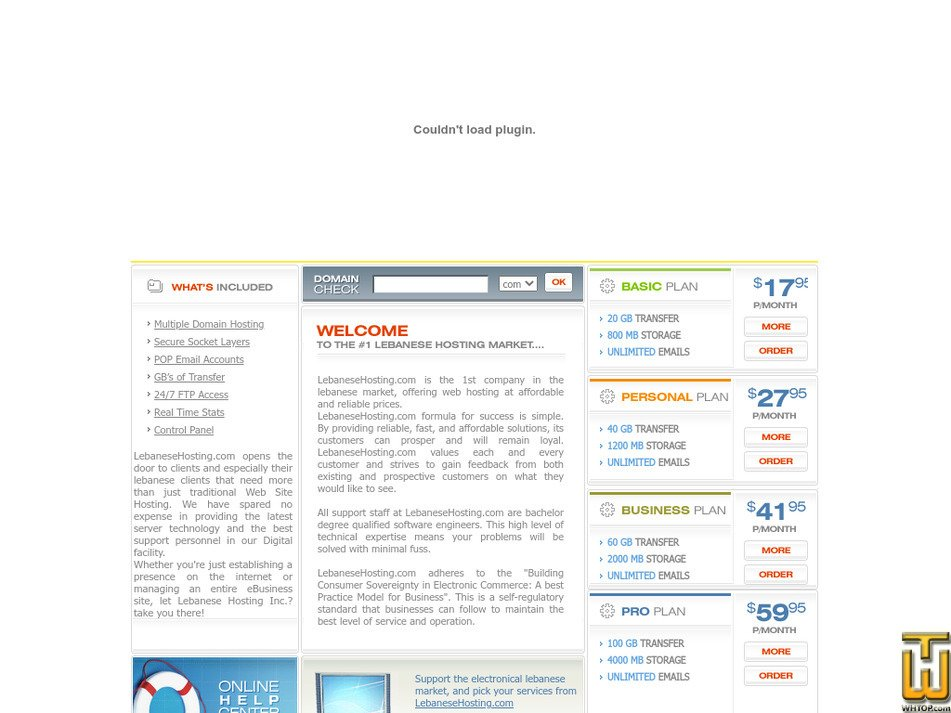 lebanesehosting.com Screenshot