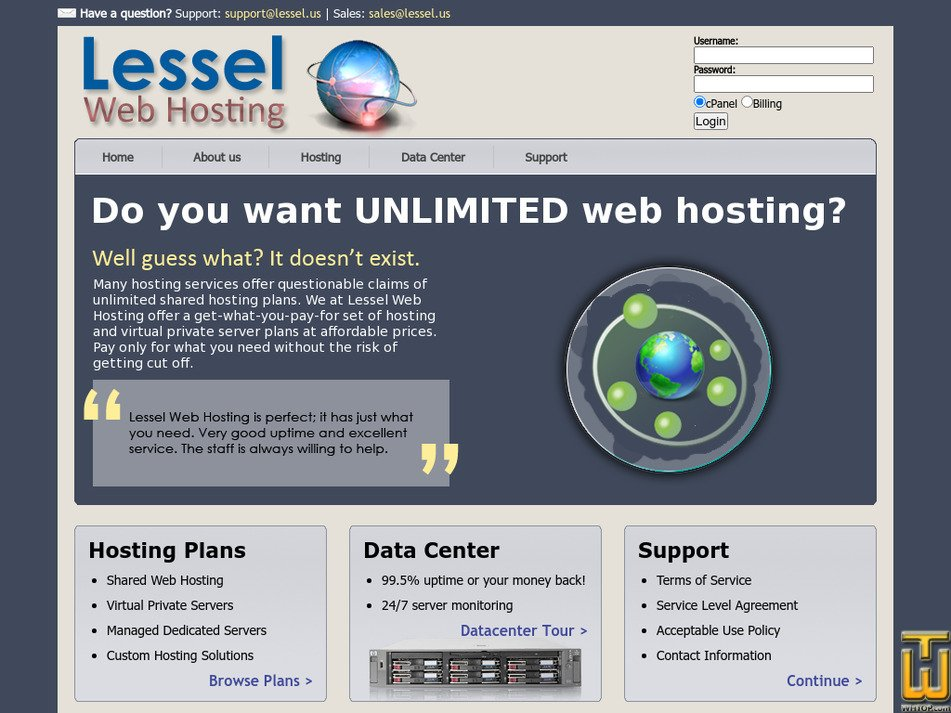lessel.us Screenshot