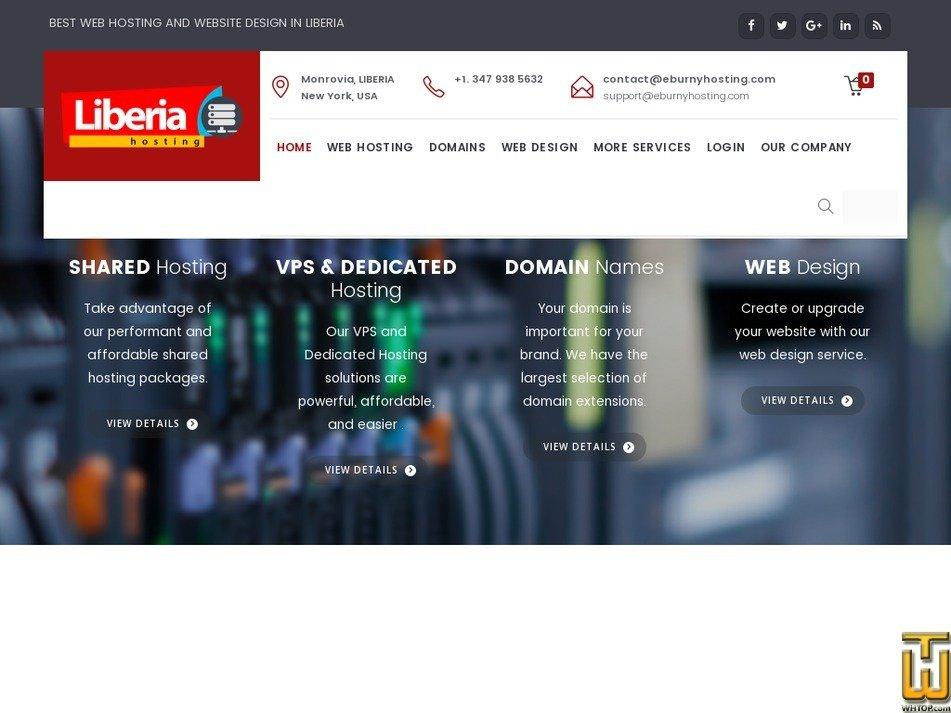 liberiahosting.com Screenshot