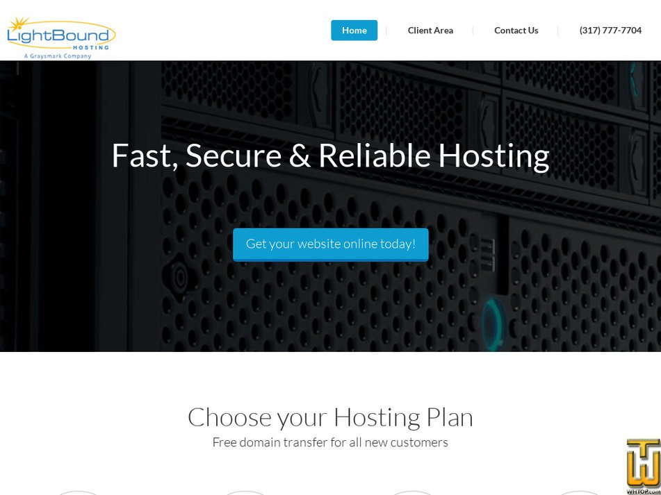 lightboundhosting.com Screenshot