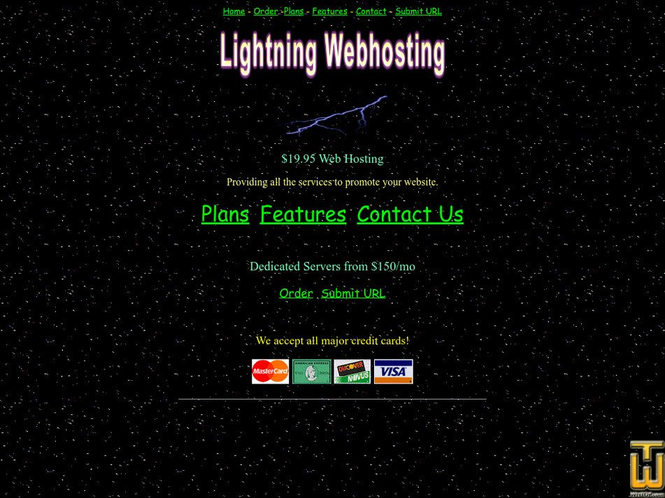 lightning-webhosting.com Screenshot