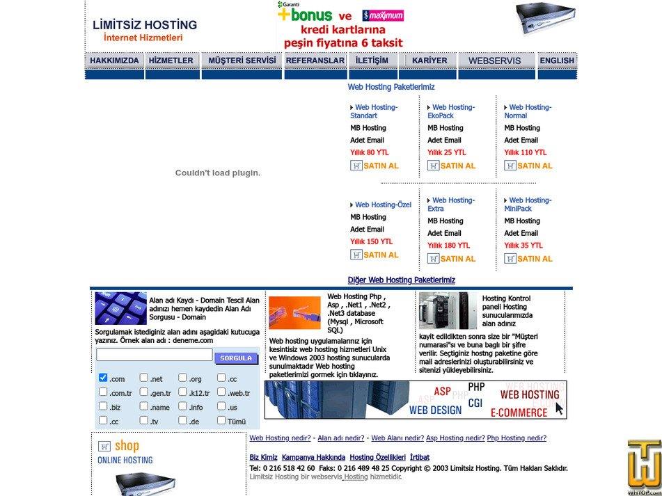 limitsizhosting.com Screenshot