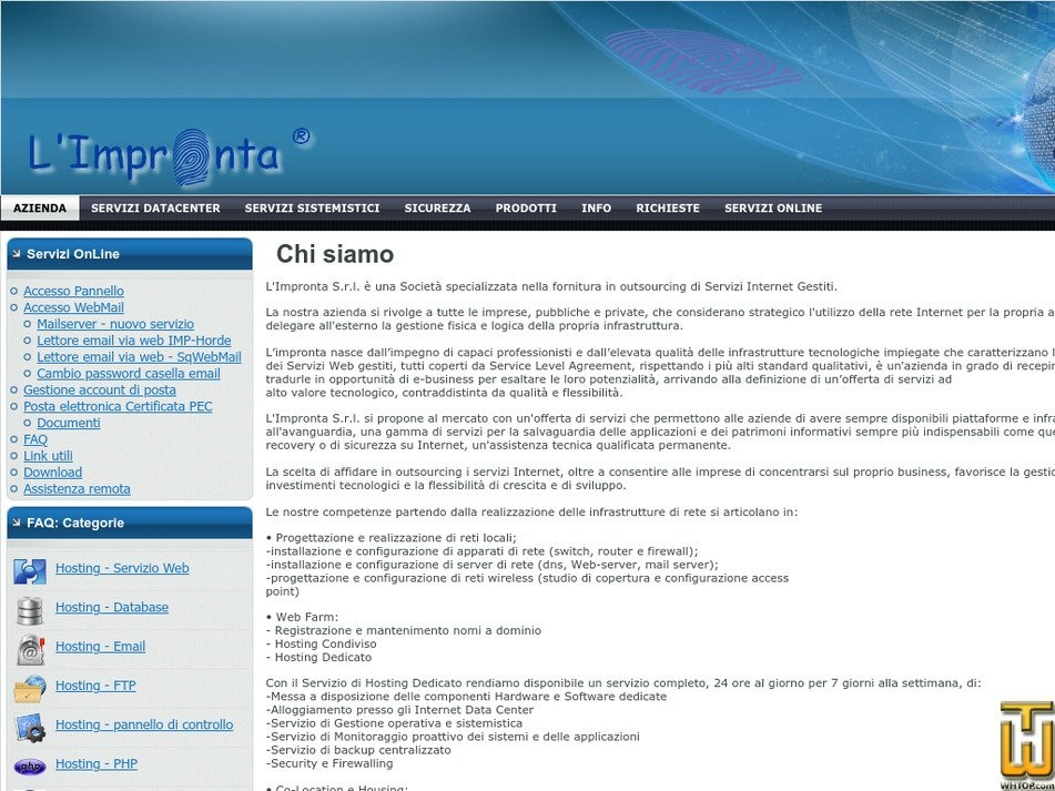 limpronta.net Screenshot