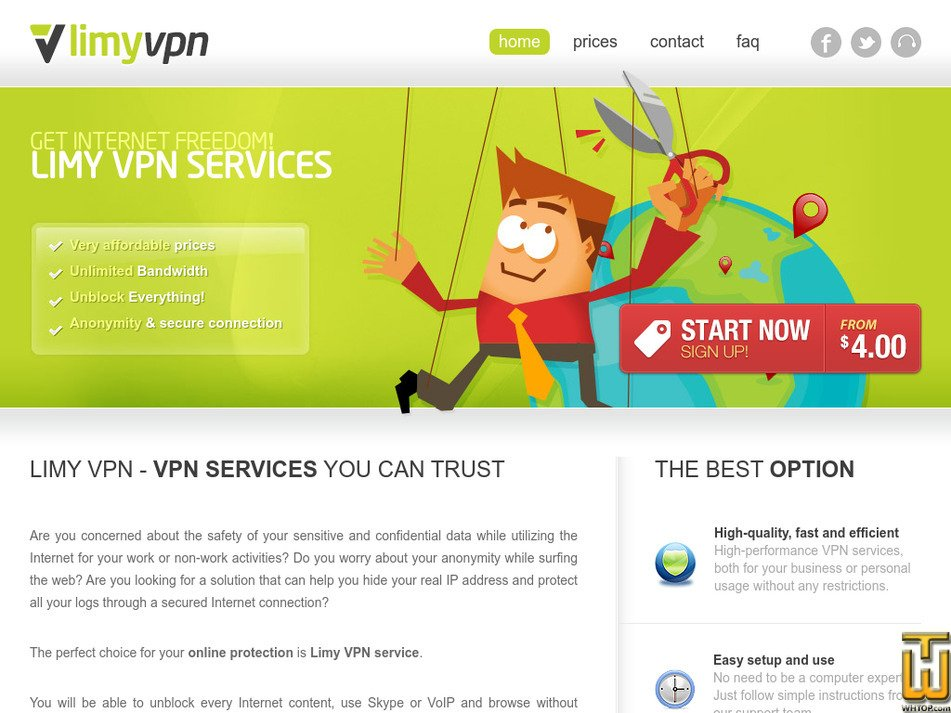 limyvpn.com Screenshot