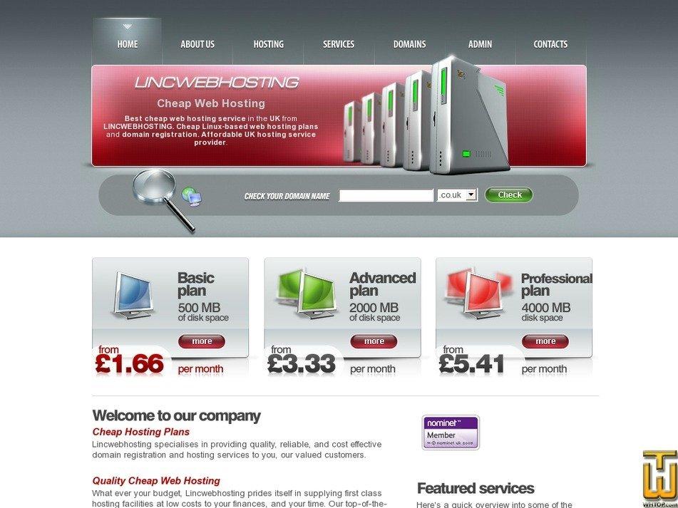 lincwebhosting.co.uk Screenshot