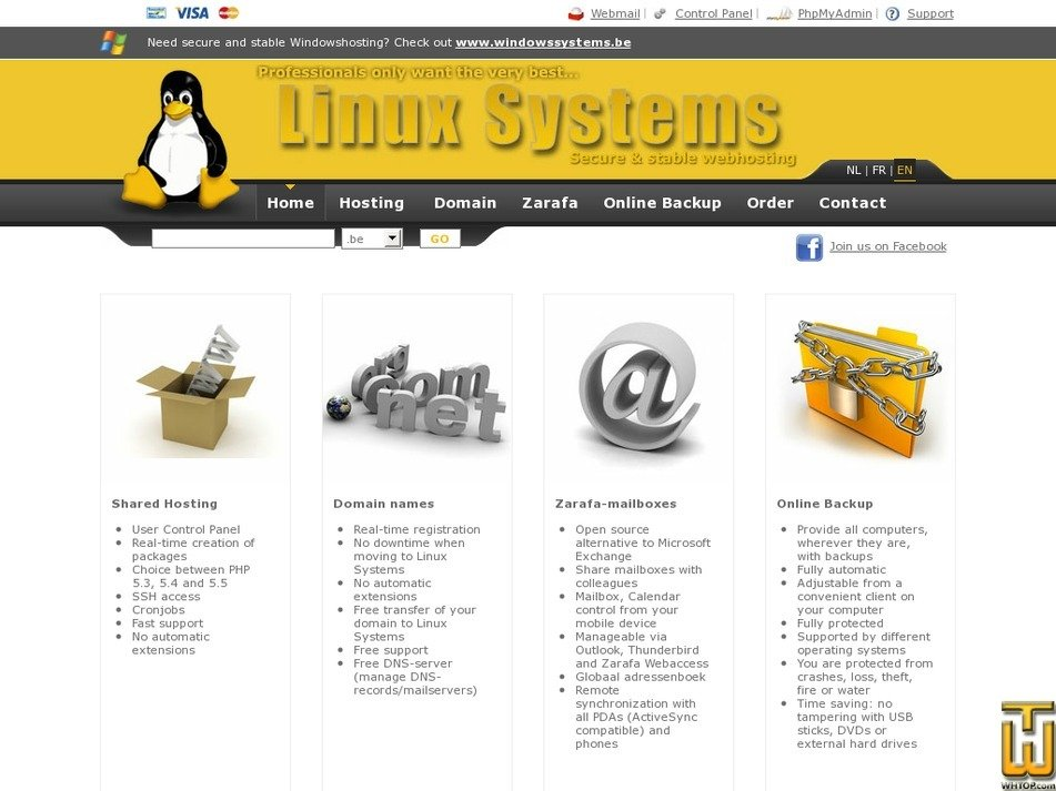 linuxsystems.be Screenshot
