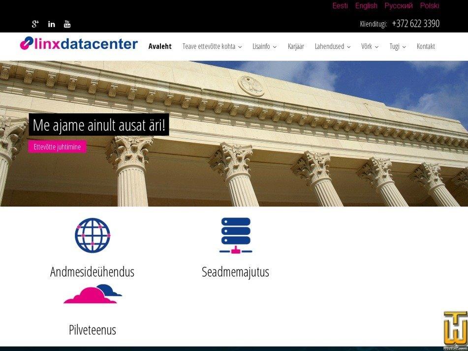 linxtelecom.ee Screenshot