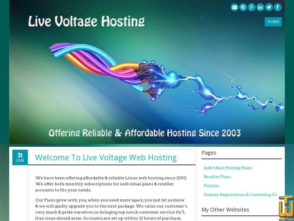 livevoltage.com Screenshot