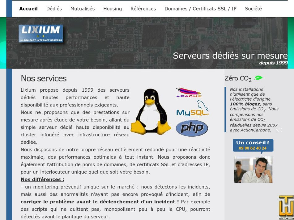 lixium.fr Screenshot