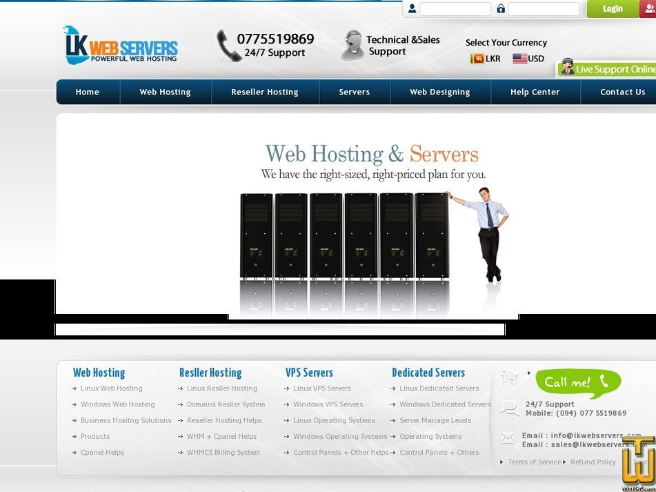 lkservers.com Screenshot