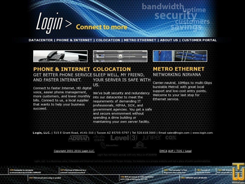 login.com Screenshot