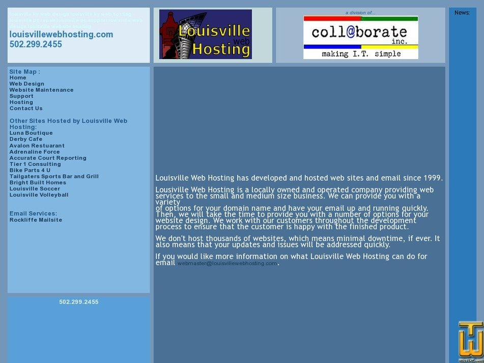 louisvillewebhosting.com Screenshot