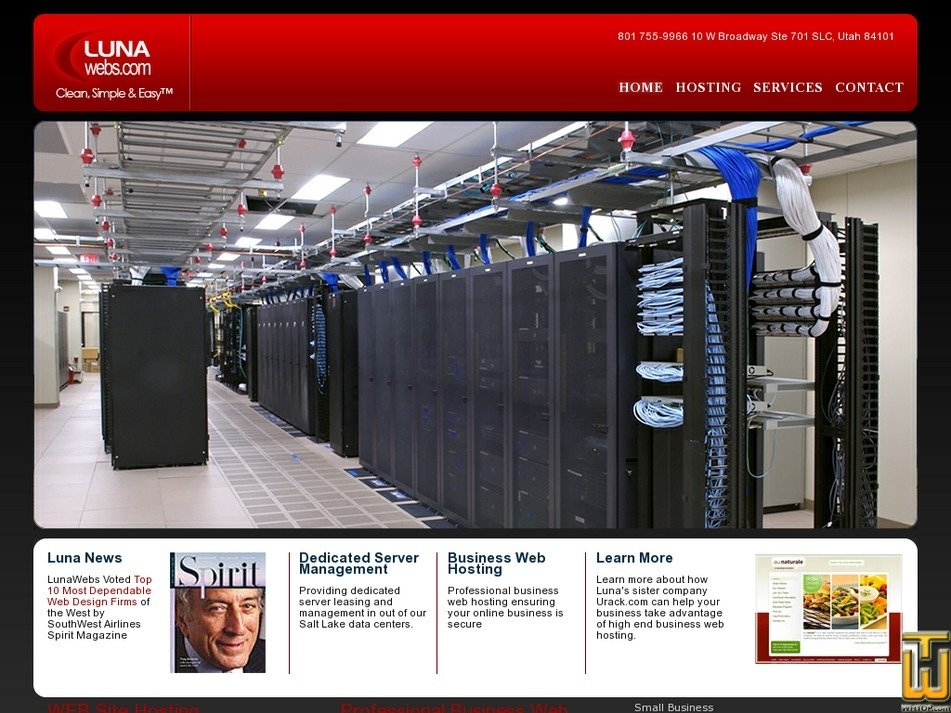 lunawebhosting.com Screenshot
