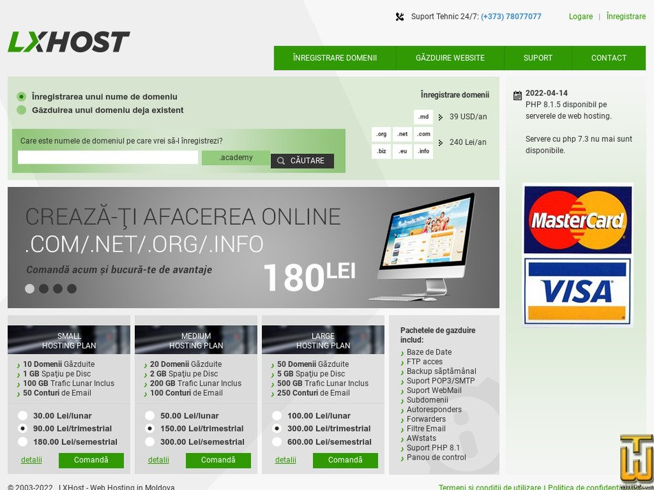 lxhost.com Screenshot