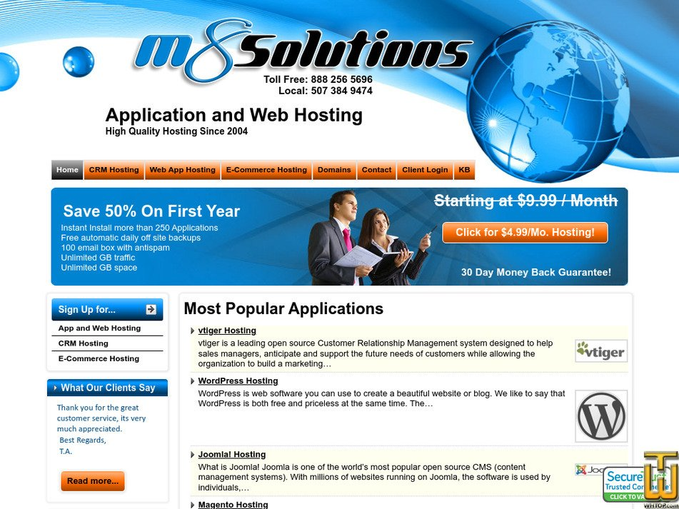 m8solutions.com Screenshot
