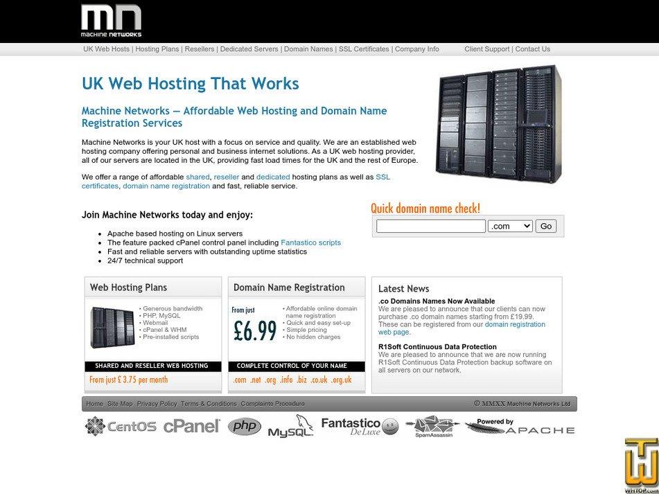 machinenetworks.co.uk Screenshot