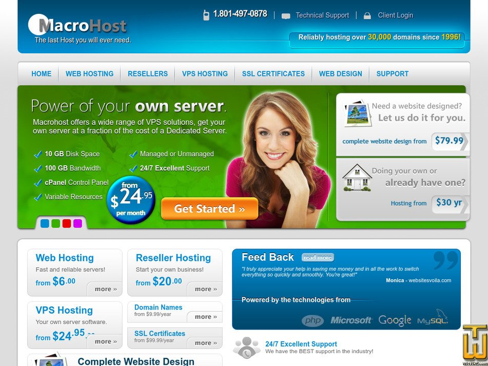 macrohost.com Screenshot