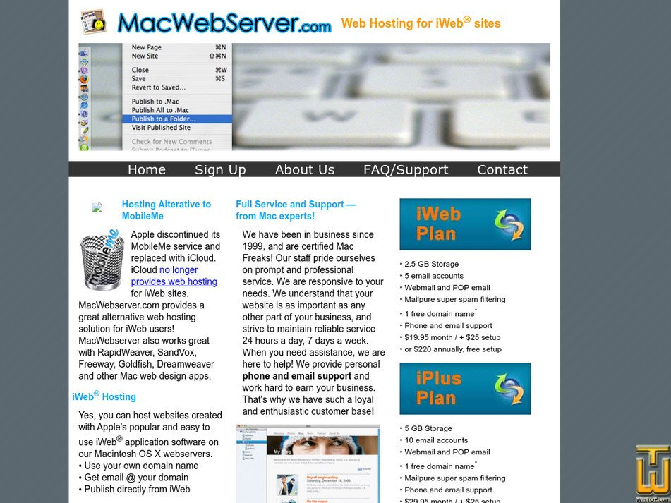 macwebserver.com Screenshot