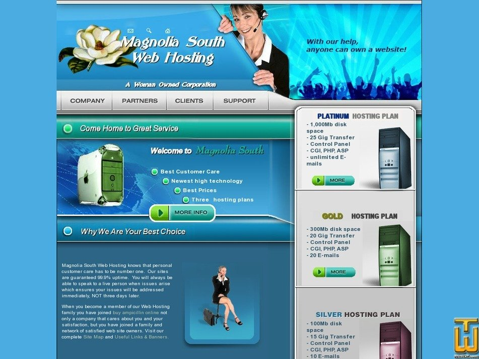 magnoliasouth.com Screenshot