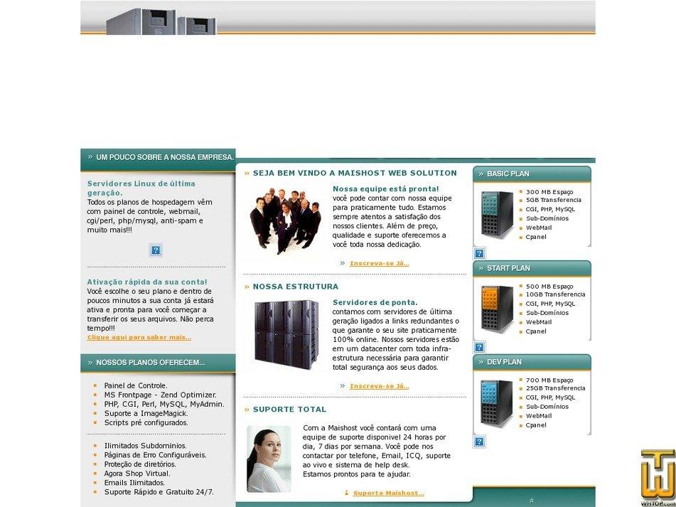 maishost.com.br Screenshot
