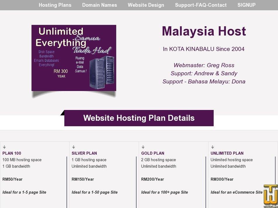 malaysia-host.com Screenshot