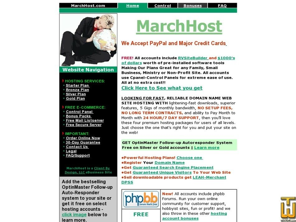 marchhost.com Screenshot