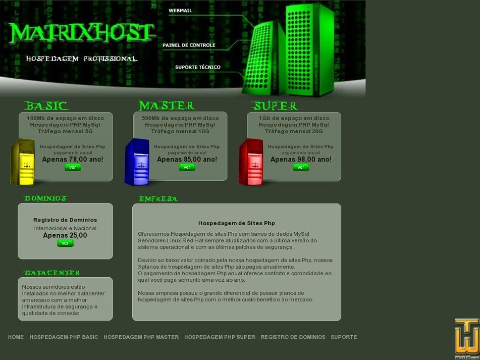 matrixhost.com.br Screenshot