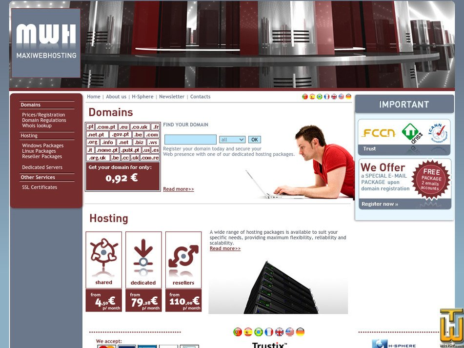 maxiwebhosting.com Screenshot