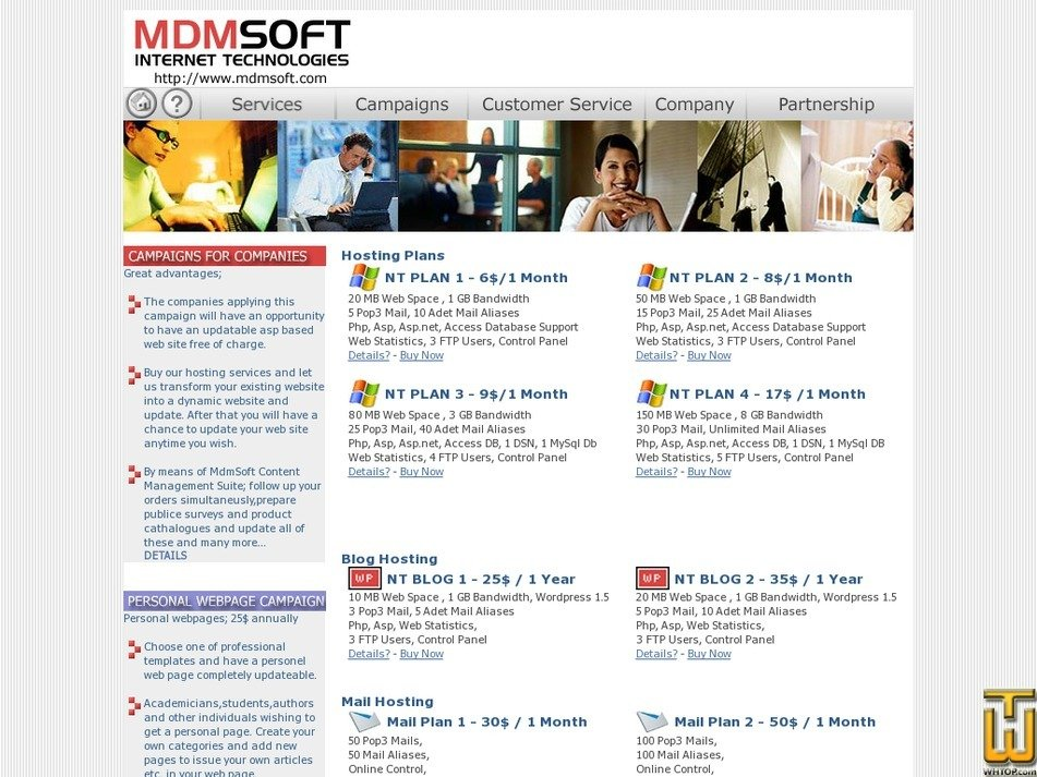 mdmsoft.com Screenshot