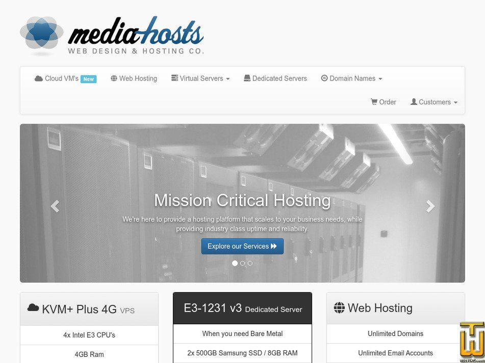 media-hosts.com Screenshot