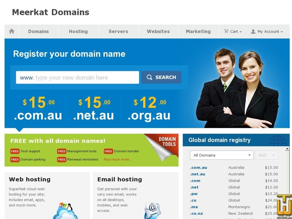 meerkatdomains.com Screenshot