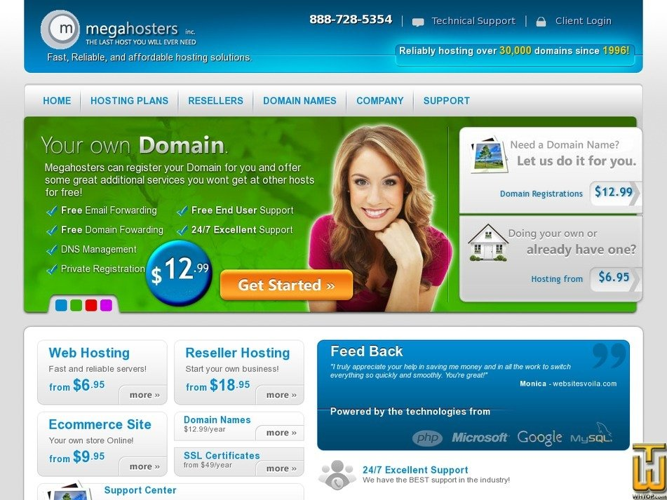 megahosters.com Screenshot