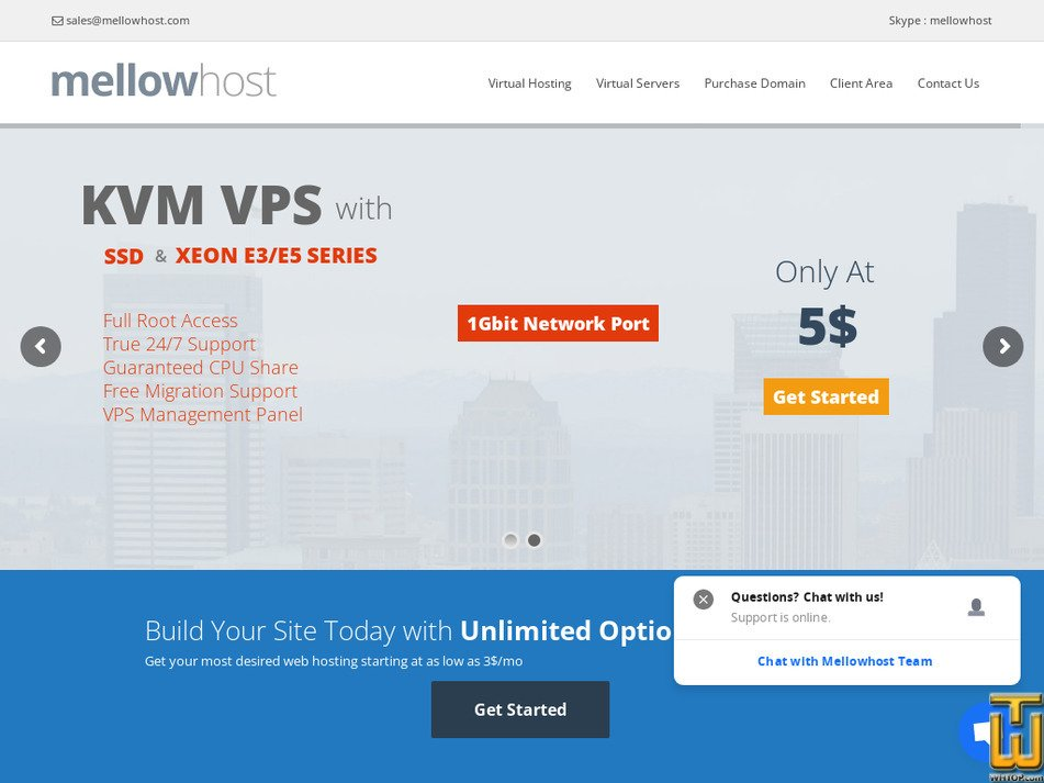 mellowhost.com Screenshot