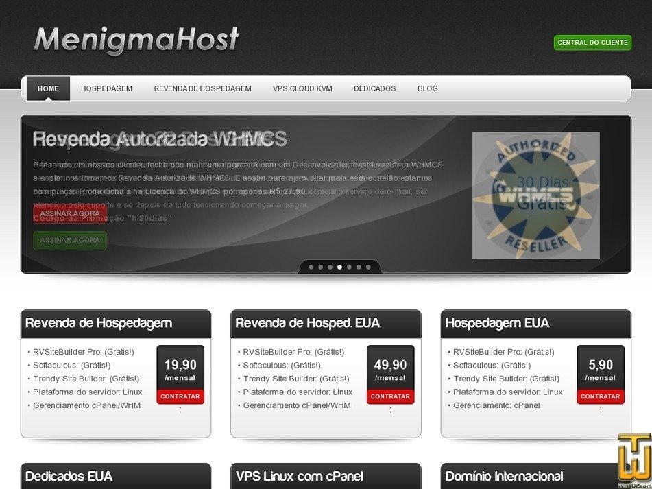 menigmahost.com.br Screenshot