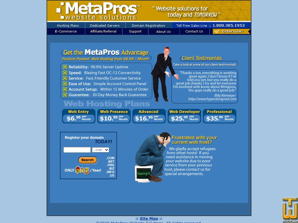 metapros.net Screenshot