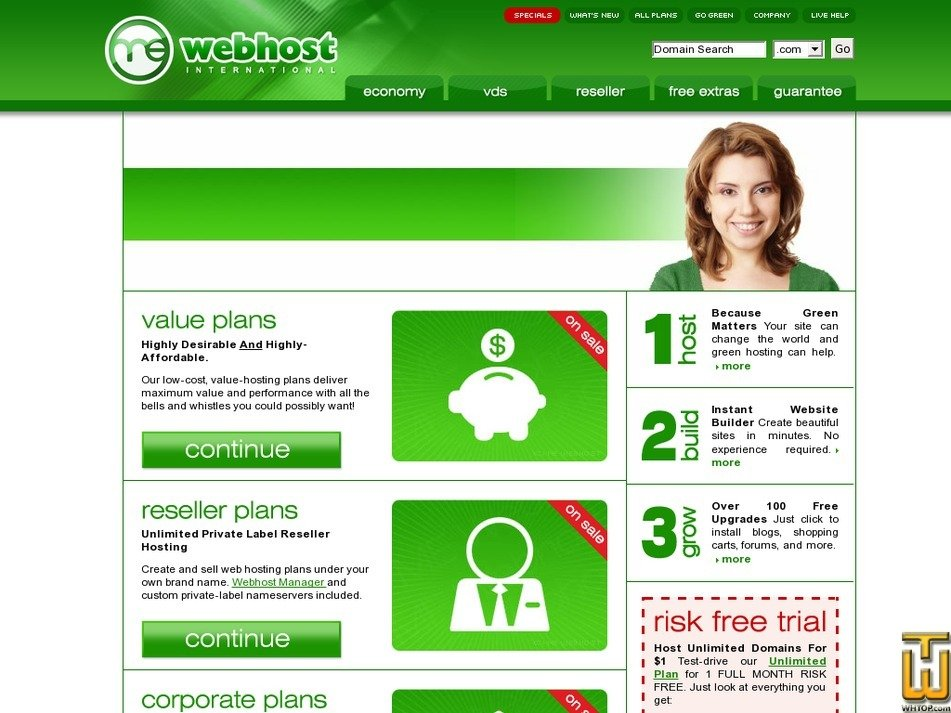 mewebhost.com Screenshot