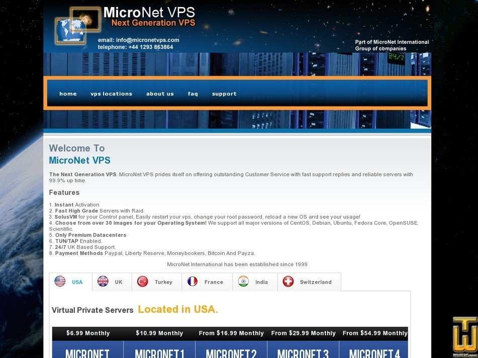 micronetvps.com Screenshot