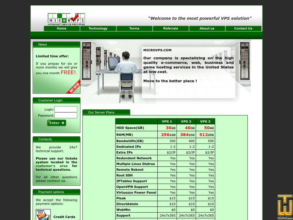 microvps.com Screenshot
