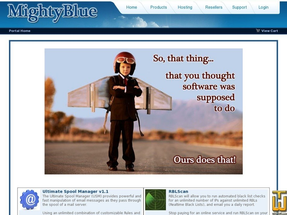 mightyblue.com Screenshot