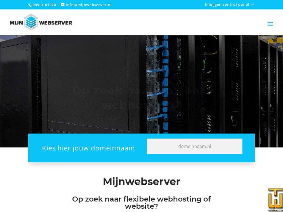 mijnwebserver.nl Screenshot