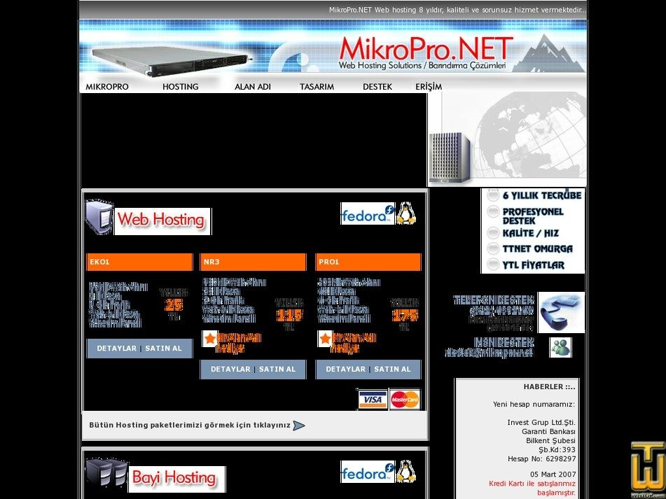 mikropro.net Screenshot