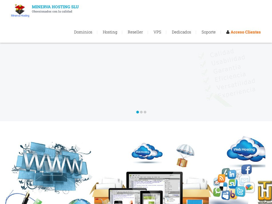 minervahosting.com Screenshot