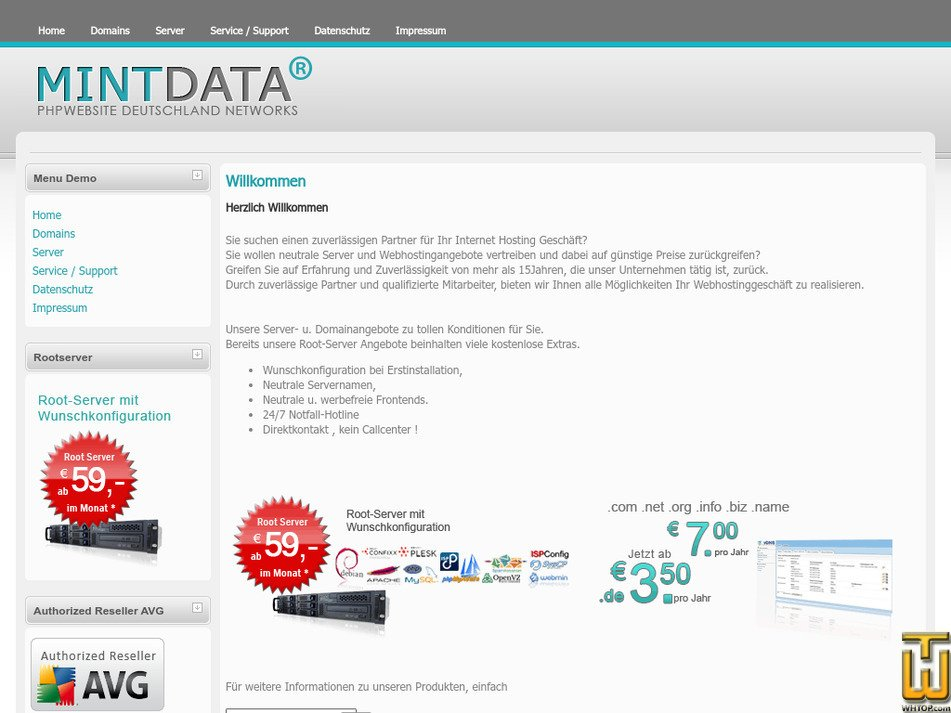 mintdata.eu Screenshot