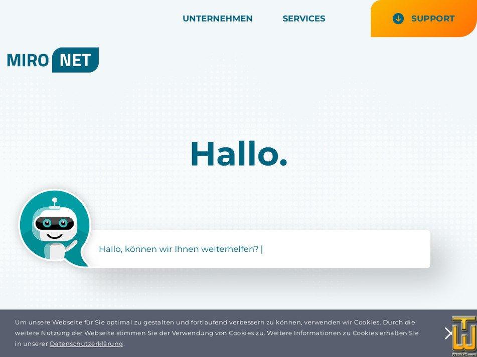 mironet.ch Screenshot