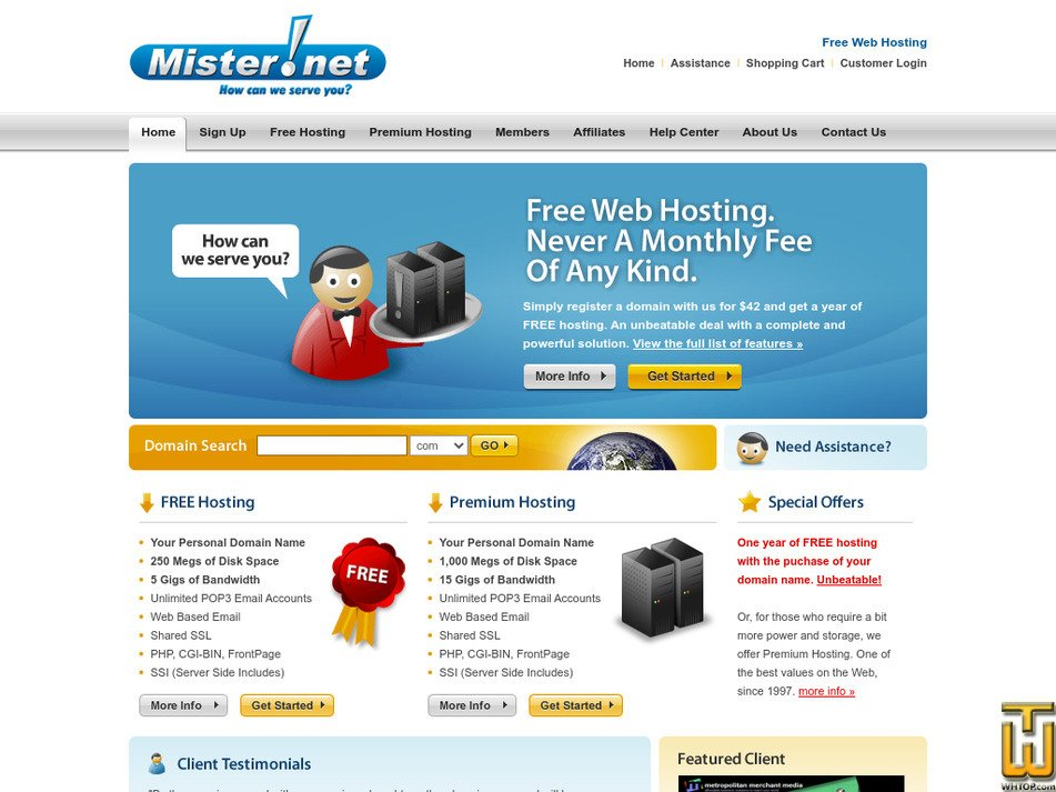 mister.net Screenshot