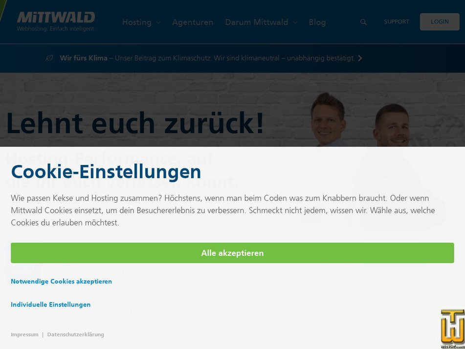 mittwald.de Screenshot