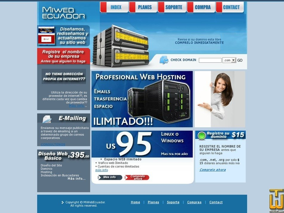 miwebecuador.com Screenshot