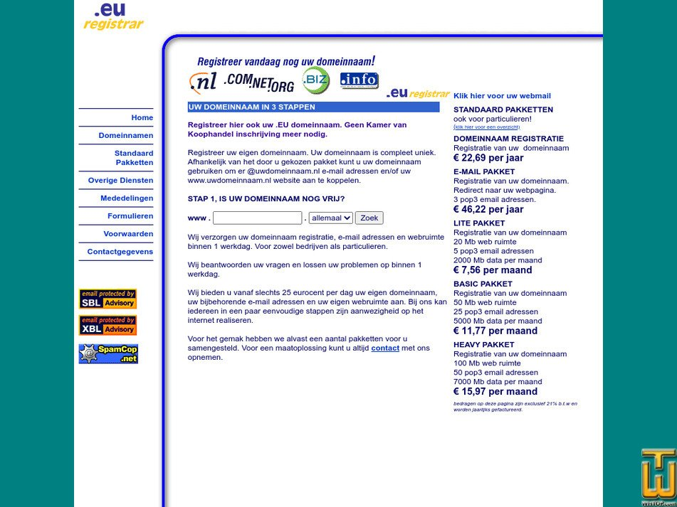 monsternet.nl Screenshot